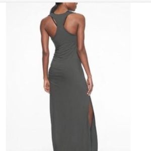 Athleta Playa Maxi Dress Gray Size MP